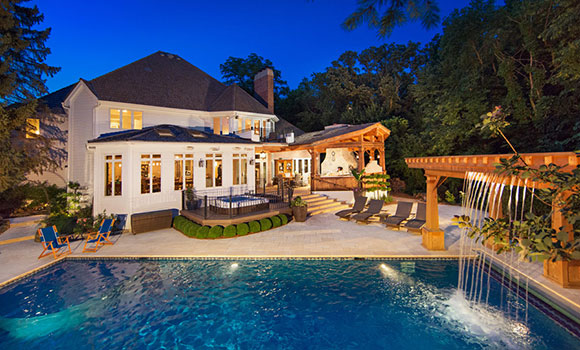 Naperville luxury homes pool real estate magazine photos